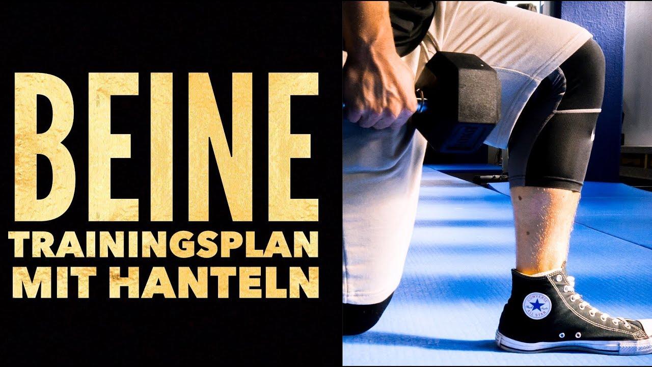 Unterkörper Trainingsplan mit Kurzhanteln für daheim | Beine ...