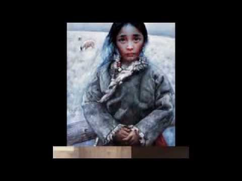 I Am A Child-Tibet Girl paintings by Chinese artist Ai Xuan.