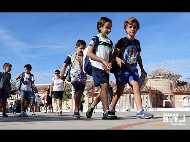 VÍDEO: Los 'peques' de la casa han iniciado hoy el curso escolar sin ninguna incidencia destacable