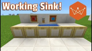 Working Sink 3 designs! Minecraft Tutorial