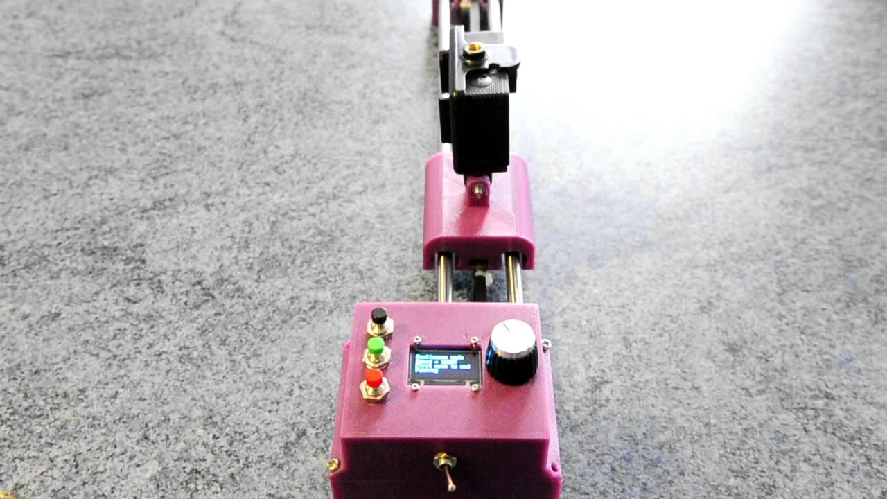 Motorized camera slider youtube for Stepper motor camera slider