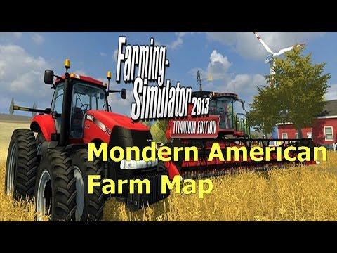 Let's Play Farming Simulator 2013 Modern American Farm Map Ep 1
