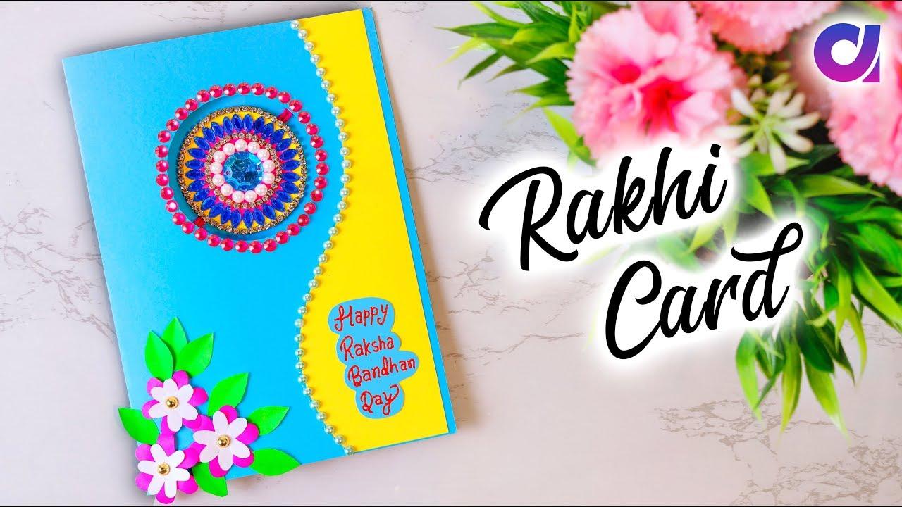 graphic about Rakhi Cards Printable named Paper Rakhi Card Craft Thought Raksha Bandhan 2019 Uncomplicated Reward Notion Paper Flower Card Artkala
