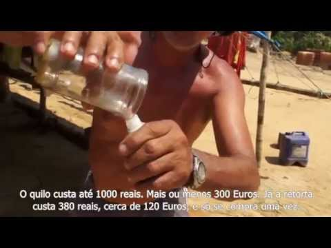 Gold mining in the Amazon rain forest (German with Portuguese subtitles)