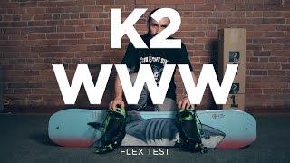 K2 WWW Flex Test - BoardInsiders.com - 2016 K2 WWW Snowboard