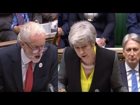 BREXIT FURY: 'I can look them in the eye!' May tears Corbyn apart in ferocious Commons clash