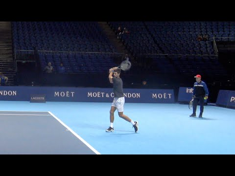 2018 ATP Finals: Novak Djokovic Practice with Karen Khachanov