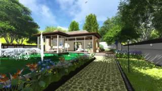 Deluxe Garden Villa 3D Landscape Revit/Lumion Model