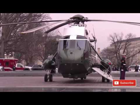 WATCH President Donald Trump and Obama Leave Capitol Hill on Inauguration Day AMAZING SIGHT!✔