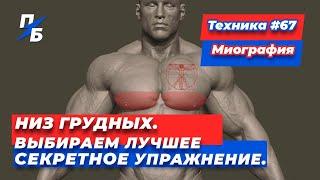 Низ грудных Выбираем лучшее СЕКРЕТНОЕ упражнение Техника 67
