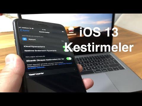 iOS 13-13.1 Kestirmeler Güvenilir Olmayan Kestirmelere İzin Ver