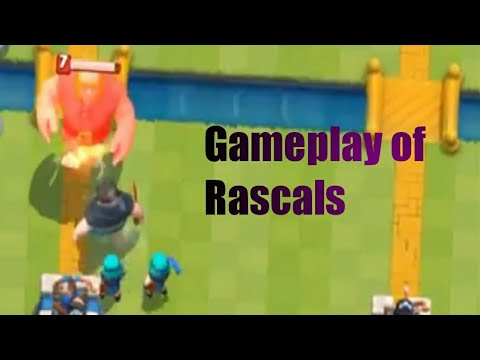 Clash Royale new leaked gameplay of Rascals!