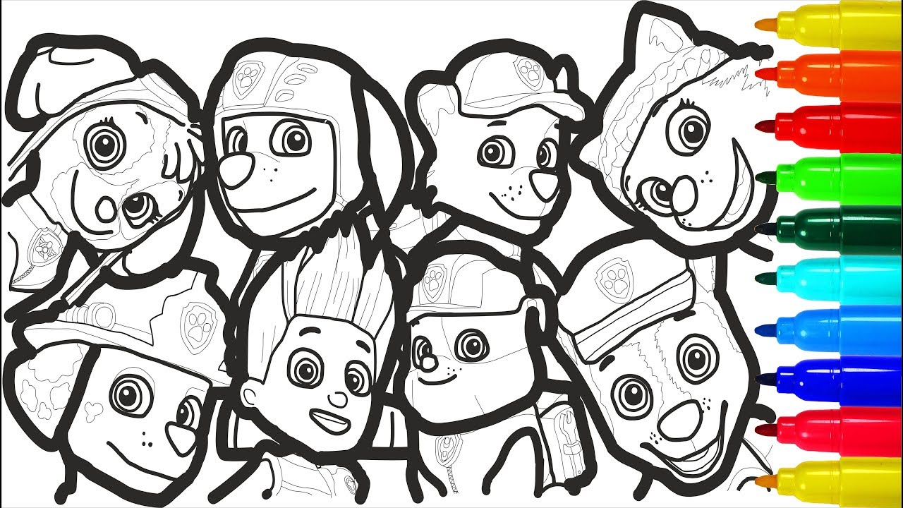 Paw Patrol 2 Coloring Pages Colouring Pages For Kids Youtube