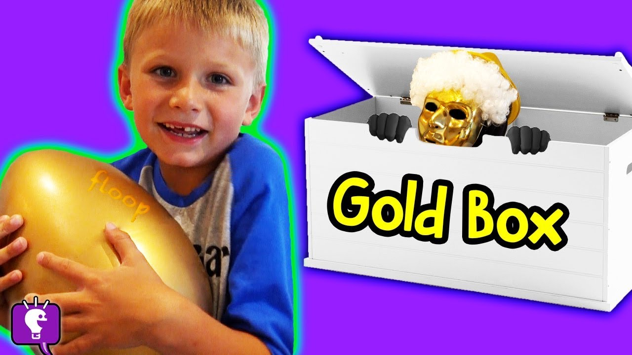 GIANT GOLD EGG SURPRISE with Mystery Clue!! by HobbyKidsTV