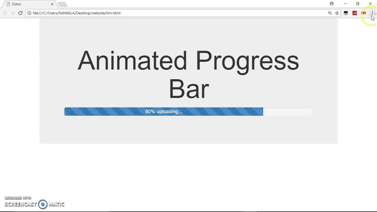Animated Upload Progress Bar - Bootstrap
