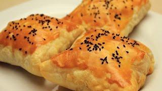 Talaş Böreği Tarifi - Milföy Hamurundan Tavuklu Bohça Börek