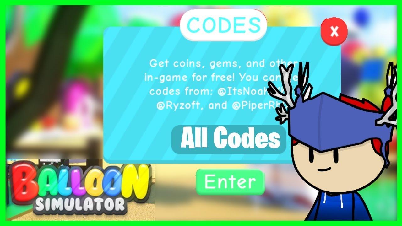 All Balloon Simulator Codes Roblox Youtube