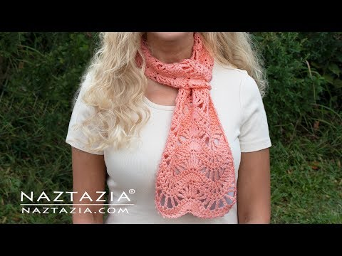 How To Crochet The Anniversary Scarf - By Naztazia