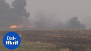 Oil train derailment forces North Dakota town to evacuate - Daily Mail