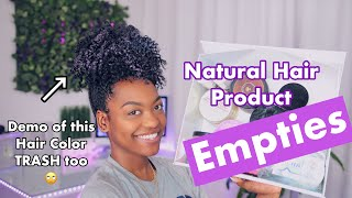 Natural Hair Product Empties Feb '19 + Spray on Color Demo