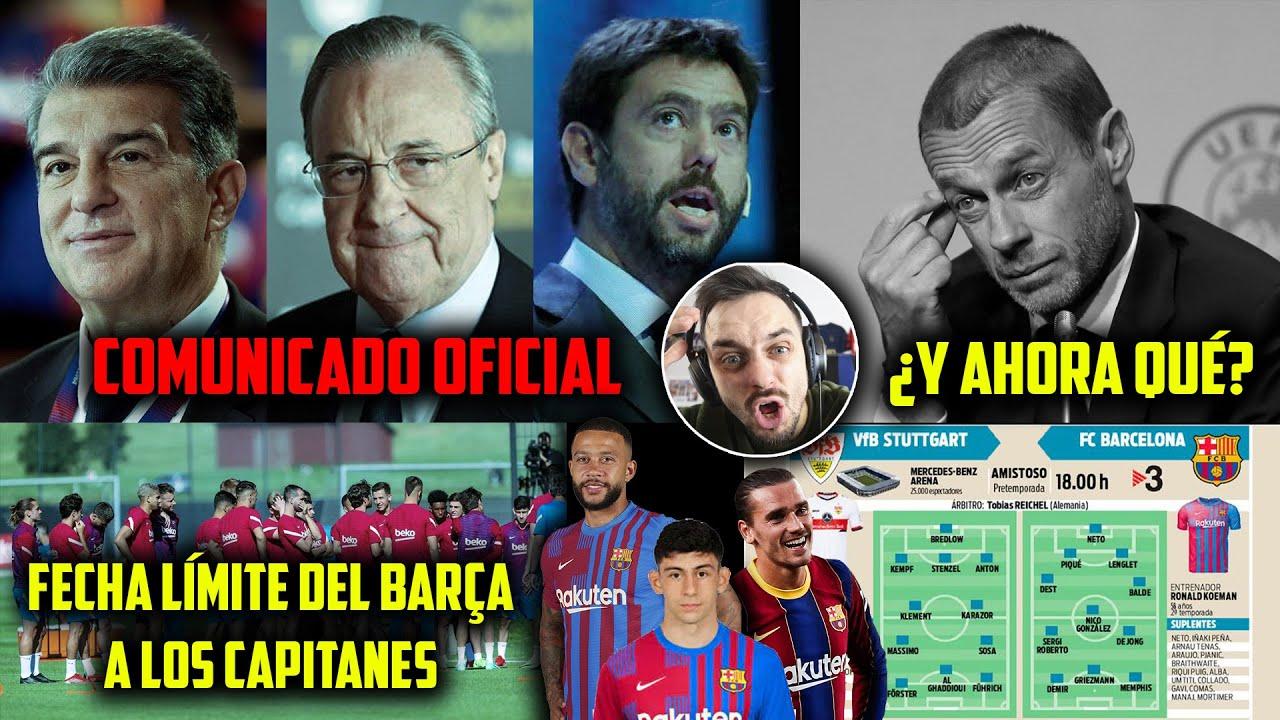 💣BOMBAZO de la SUPERLIGA a la UEFA · 🤬¡SIGUE AMENAZANDO CEFERÍN! · FECHA de la REBAJA SALARIAL BARÇA