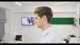 Мужская стрижка ножницами/men's haircut