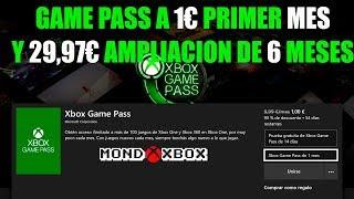 Xbox Game Pass a 1€ primer mes y ampliación a 6 meses por menos de 30€ |MondoXbox