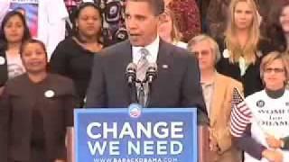 オバマ 演説(字幕): パウエル前将軍が支持表明