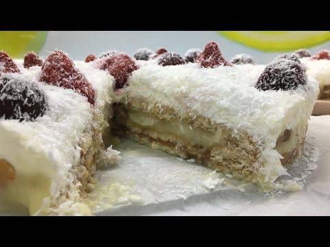 """Торт без выпечки: """"Рафаэло"""" или """"Ягоды на снегу"""""""