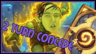 The only deck that causes your opponent to concede in 2 turn | The Boomsday Project | Hearthstone