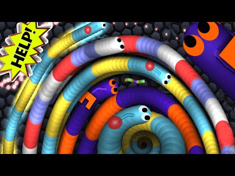 Slither.io - World Biggest Worm Party Ever   Slitherio Epic Moments