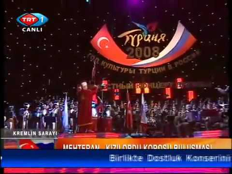 Ottoman Military band in RUSSIA Red Army Choir Ceddin Deden (Ottoman Janissary March)