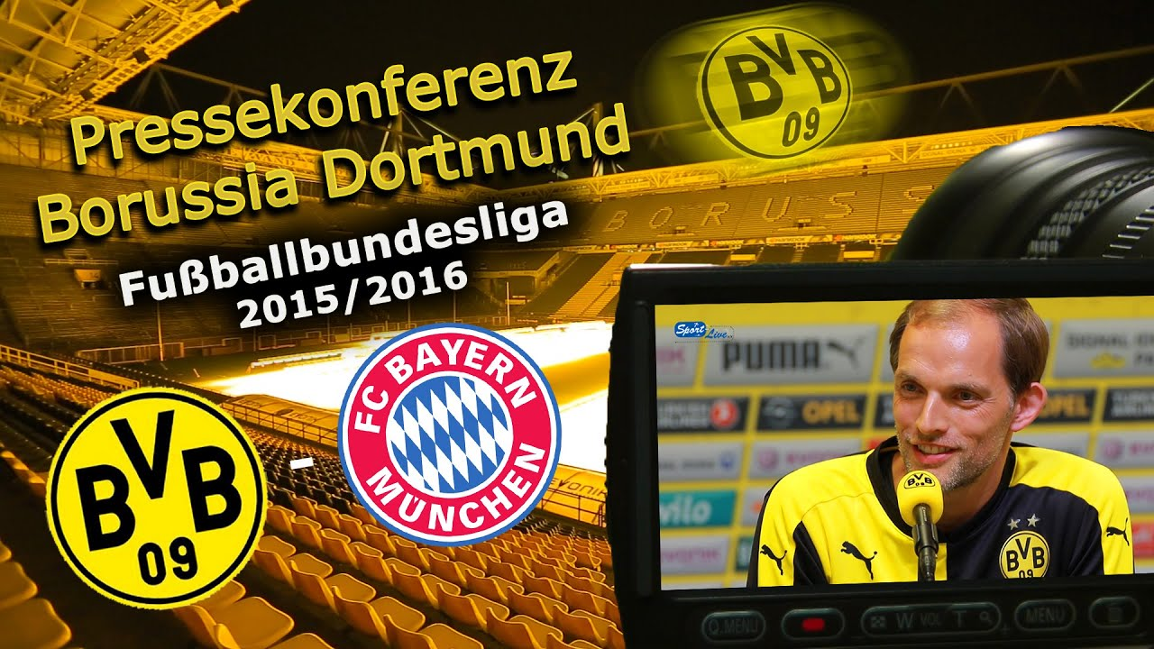 Borussia Dortmund - FC Bayern München: Pk mit Thomas Tuchel vor dem Gipfeltreffen