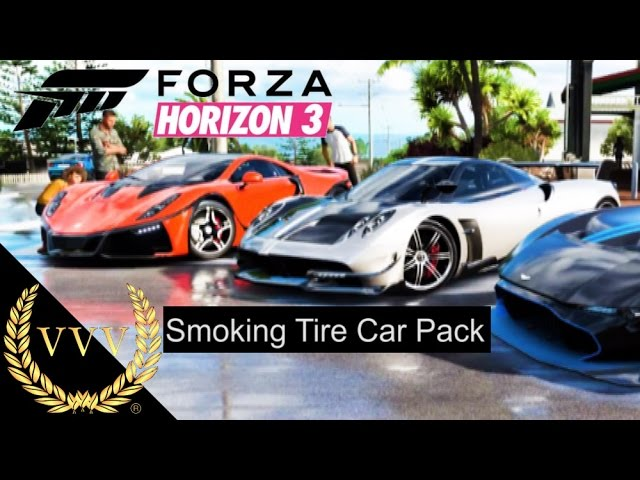 Forza Horizon 3 Smoking Tire Car Pack Trailer