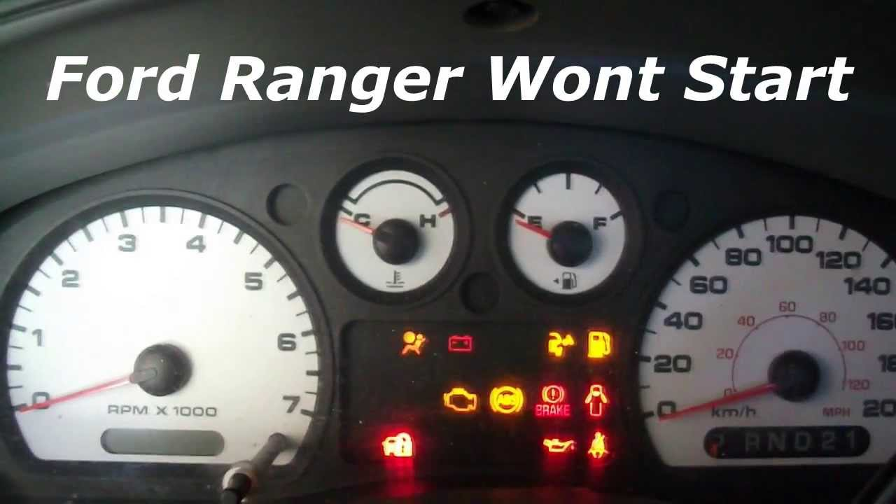 Ford Ranger Wont Start Youtube Do You Have To Replace The Fuel Pump Filter On A 2004 Mazda 6