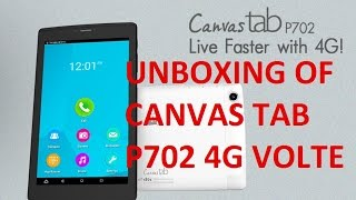 UNBOXING OF MICROMAX P702 4G VOLTE TABLET(HINDI)