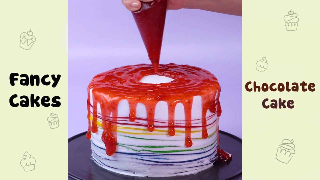 Creative Rainbow Cake Decorating Ideas #shorts