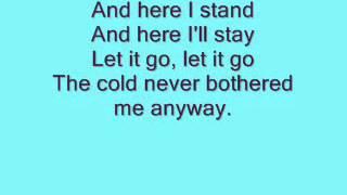 Let it go Karaoke Backing Instrumental (Demi Lovato's version)