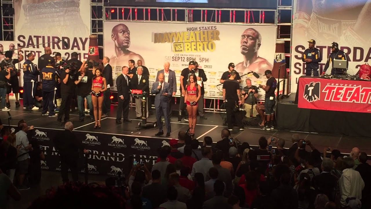 Mayweather vs. Berto: Weigh-In Entrance, MGM Grand Garden Arena, Las ...