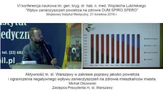 Aktywność m. st. Warszawy w zakresie poprawy jakości powietrza
