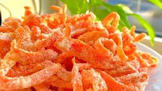 Mứt cà rốt_cách làm mứt cà rốt dẻo thơm không dùng nước vôi trong_Bếp Hoa