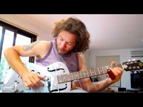 Mike de Velta plays Slide Dobro Blues Guitar Improvisation