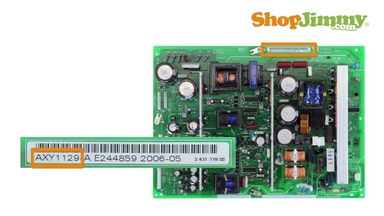 Pioneer TV Repair STEP 1: Part Identification Number Guide for ...