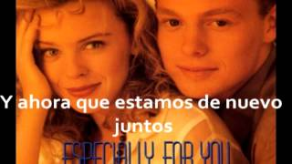 Kylie Minogue - Especially For You (español)