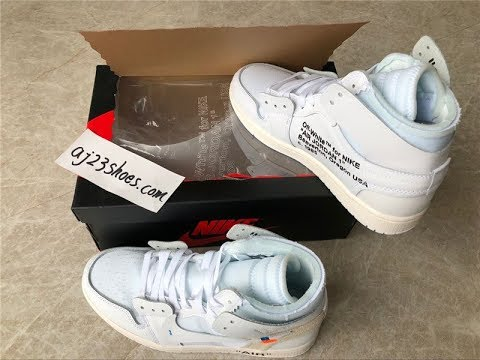 5d83f182168 Authentic OFF WHITE AIR JORDAN 1 WHITE 2018 Unboxing HD review - YouTube