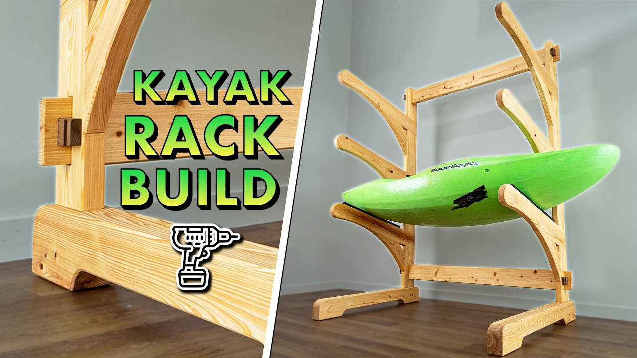Building a MASSIVE Kayak Rack with Timber Frame Joinery // How To