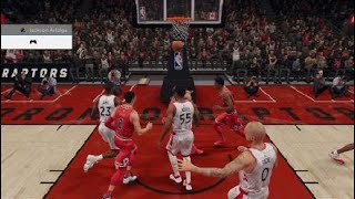 NBA LIVE 18 amazing alley oop lol