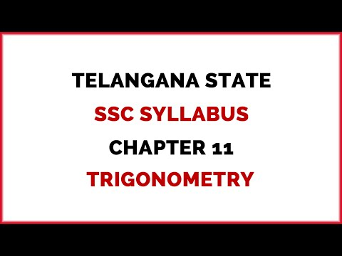 Telangana State SSC Syllabus Chapter 11 (Trigonometry)
