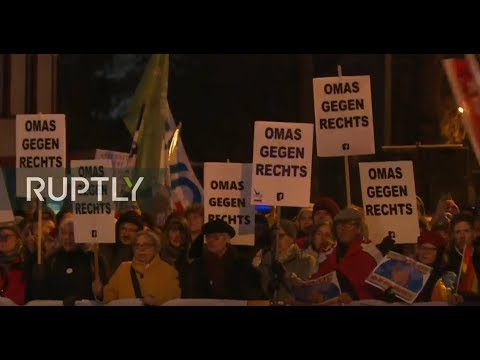 LIVE: AFD Supporters Rally In Erfurt Ahead Of State Premier Election, Counter Demo Expected
