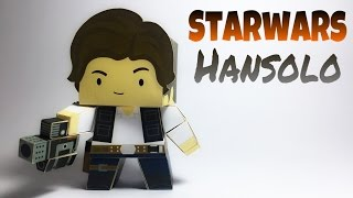 Han Solo Star Wars Paper Crafts tutorial !